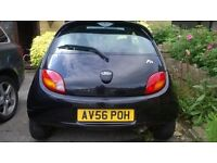 Ford KA, for sale, black leather interior, 3 previous owners. in great condition.