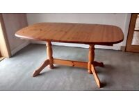 Extending Solid Pine Dining Table
