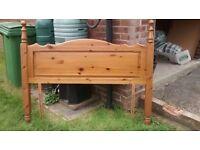 Standard UK double pine headboard