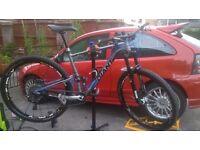 giant anthem x 29er full suspention mountainbike with upgrades