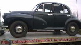 Classic 1953 Morris 1000 Split Screen Four Door Cheese Grater Grill Model