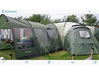 12 man plus outwell Hartford tent with porch extension