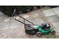 Qualcast 125cc Push Petrol Rotary Lawn Mower - 41cm
