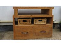 Country style Pine TV cabinet