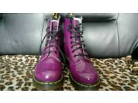 Dr Martens size 4 Patent Purple LIKE NEW!
