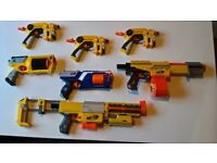 Nerf gun collection fully loaded with bullets