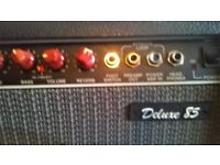 Vintage Fender club 85 Deluxe American made guitar combo , serial number LO 242593