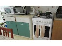 Belling white freestanding gas cooker