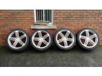 AUDI Q7 2009-14 S LINE ALLOYS WHEELS WITH TYRES 285/35/R22 5x130