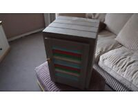 Lovely delightful distressed storage cupboard with shelf.
