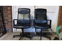 Black Office Chairs hardly used