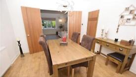 Next dinning table and chairs and sideboard with stool