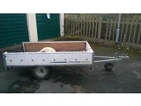 Flat bed box car trailer