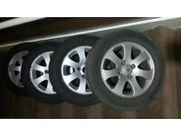 "4 Peugeot 207 15"" wheels and alloys"