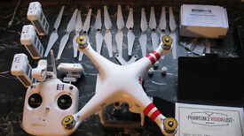 Fully functional DJI Phantom 2 Vision with Rotorpixel 2-Axis brushless gimbal
