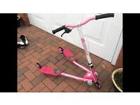 Y Fliker F1 Girls Pink Wiggle Scooter Pristine Condition