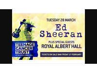 Ed Sheeran Tickets - Royal Albert Hall - £400 per ticket