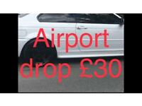 Airport drop from £35-£45