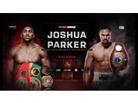 Anthony Joshua v Joseph Parker boxing tickets x2