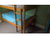 pine bunk bed frame