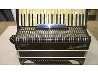SCANDALLI SYMPHONY FOUR 120 BASS PIANO ACCORDION WITH CASE