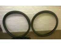 Mountain bike tyres and inner tubes