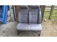 double van seat with seat belts