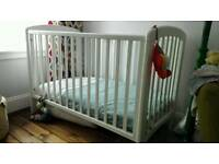 Cot for baby - Anna Dropside Cot in white (John Lewis)