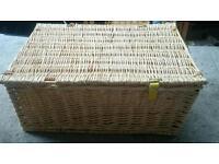 Wicker picnic hamper basket