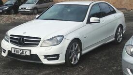 2011 Mercedes-Benz C Class 2.1 C220 CDI Sport WHITE***GEARBOX ISSUE***