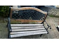 Bench with cast iron sides and back also have cast iron ends