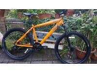 Mountain Bike Orange and thick Black new tires