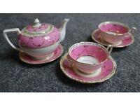 vintage pink coffee / tea set