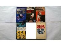 7 Alistair Maclean Books The Way To Dusty Death, Sea Witch, Caravan to Vaccares, Captain Cook