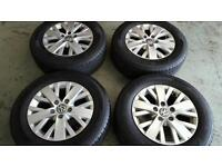 Volkwagon T5, Set of 4, 16 inch alloys. Immaculate condition with excellent tyres.