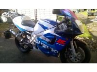Suzuki gsxr 600 srad for sale or swap