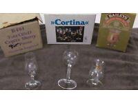 Glass sets - Bailey's Irish Cream, Sherry and Liqueur - Job lot