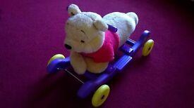 Winnie the Pooh sit on rocker