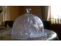 Shannon crystal 4 in 1 dome cake stand, fruit bowl, punch bowl, nibbles dish