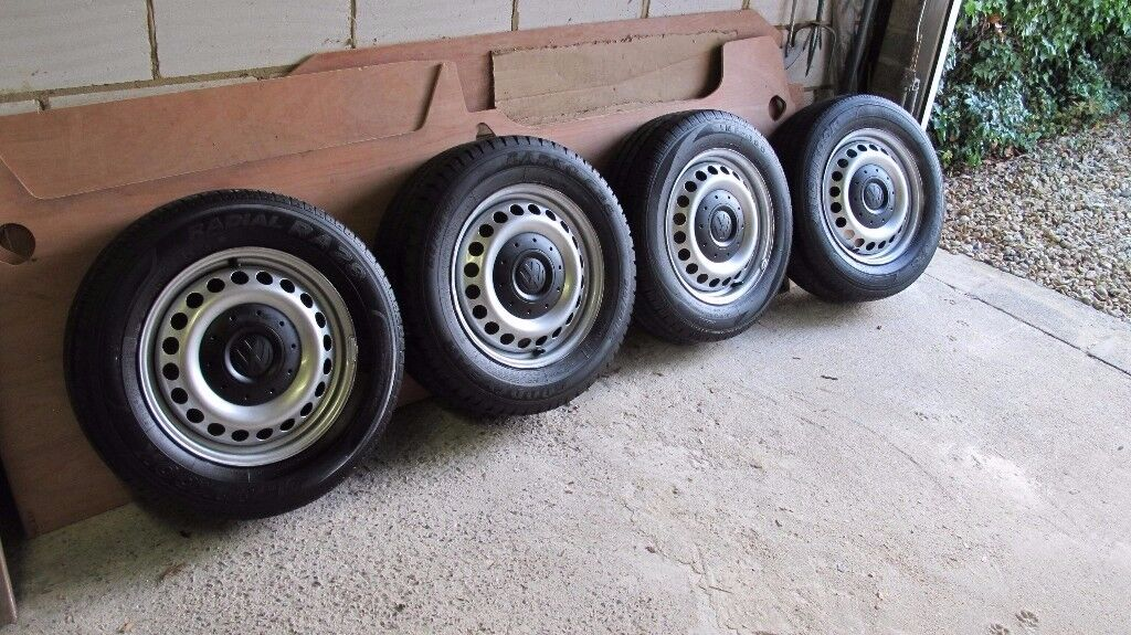 VW Transporter T5 wheels / center caps 20 bolts