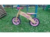 Balance training bike