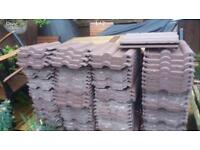 Brown Marley Double Roman Roof Tiles