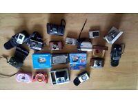 job lot of cameras