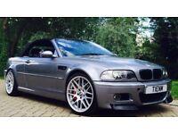 2003 BMW M3 CONVERTIBLE E46 SMG LONG MOT LOW MILEAGE CSL WHEELS