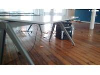 Office desk| chairs| pedestal