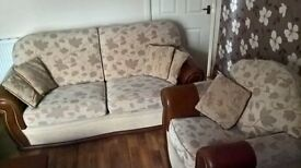 Lovely leather/material 3+1 sofa set/🚚