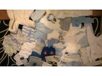 Massive Boy Clothes Bundle 0-3 mths 0-6m.well over 100 items.Too much to list.