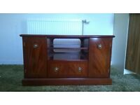 Stag wooden television stand