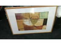large framed abstract print picture