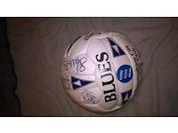 Birmingham City signed leather football 1980's-90's